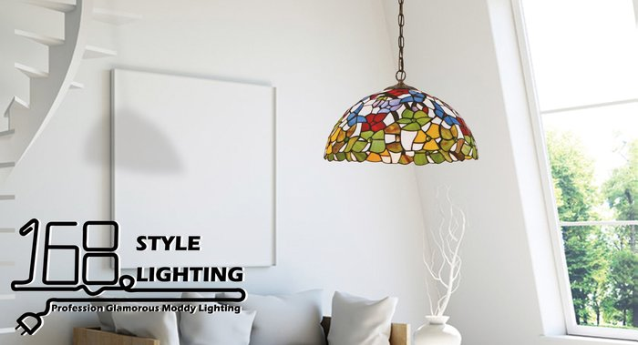 【168 Lighting】繽紛花朵《第凡內吊燈》GI 71229-3
