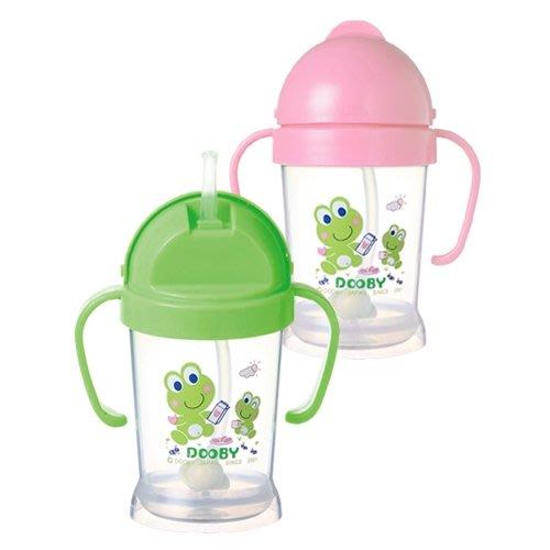 DOOBY大眼蛙-神奇喝水杯200CC(綠色/粉色)DB-4121