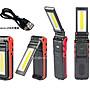 信捷戶外【B28】XPE Q5 + COB LED 多功能工作燈 手電筒 汽車維修檢修 底部磁鐵 登山露營 轉角燈