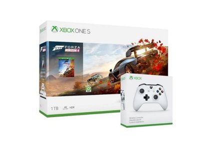 Xbox One S 1TB 極限競速:地平線4 同捆組+第二手把