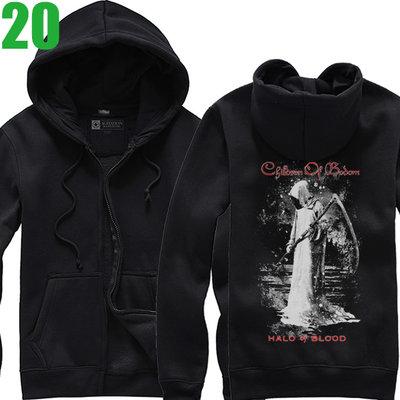 Children Of Bodom【死神之子】連帽厚絨長袖重金屬搖滾樂團外套 新款上市購買多件多優惠!【賣場六】