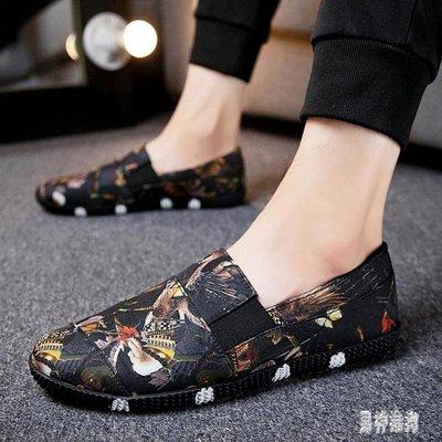 豆豆鞋 2019春季男士豆豆鞋休閒韓版潮流一腳蹬懶人男鞋帆布鞋TA386
