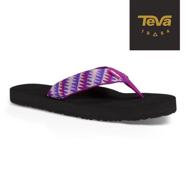 體育課 TEVA TV4198TTBP(亮紫色) 女  戶外休閒 經典織帶夾腳拖Mush II Flip-Flop