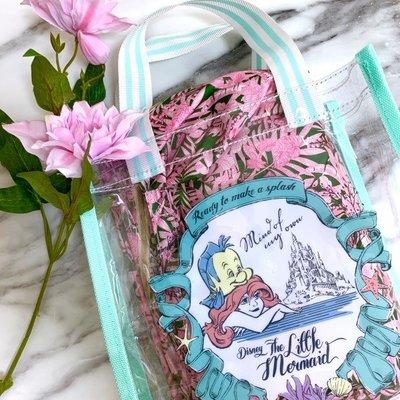☆Juicy☆日本雜誌附錄 Disney 迪士尼 美人魚公主 愛麗兒 托特包 午餐袋 手拎包 便當袋 果凍包 2508