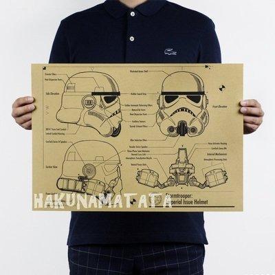 ~貼貼屋~星際大戰 Star Wars 白兵 懷舊復古 牛皮紙海報 店面裝飾 科幻電影 719