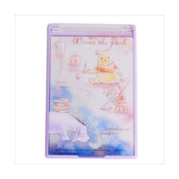 特別價~迪士尼Disney《現貨》小熊維尼 夜空隨身鏡 手鏡 立鏡(小)~日本製~心心小舖