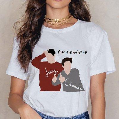 Friends TV Show T shirt  美劇老友記印花男女情侶閨蜜T恤上衣