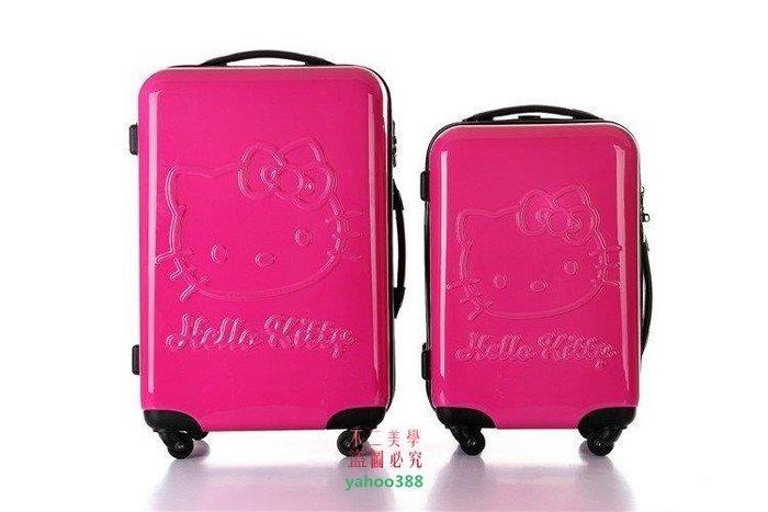 美學2hello Kitty拉桿箱KT貓 卡通可愛旅行李箱20 寸❖55167