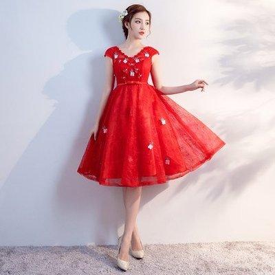 妞妞 婚紗禮服~大尺碼孕婦可穿高腰優雅顯主持人新娘婚紗長禮服~3件免郵