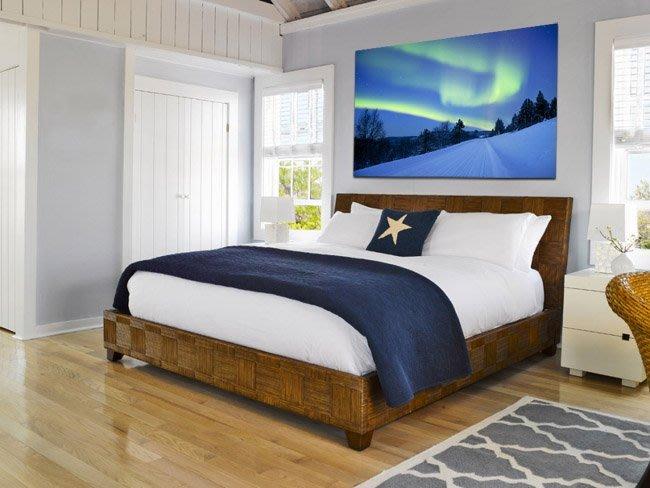 客製化壁貼 店面保障 編號F-157 唯美北極光 壁紙 牆貼 牆紙 壁畫 星瑞 shing ruei