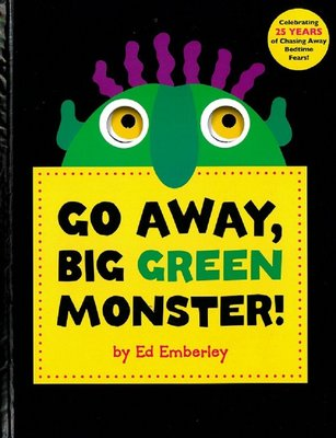 *小貝比的家*GO AWAY BIG GREEN MONSTER /精裝書+JYCD/3~6歲