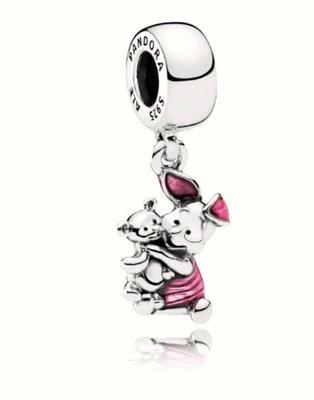 pandora潘朵拉-(正品)迪士尼小豬piglet純銀吊飾(可串手鏈項鍊)(現貨附盒)