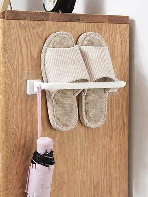 居家優思居 免打孔拖鞋掛架鞋架 衛生間壁掛墻上置物架廁所門后拖鞋架