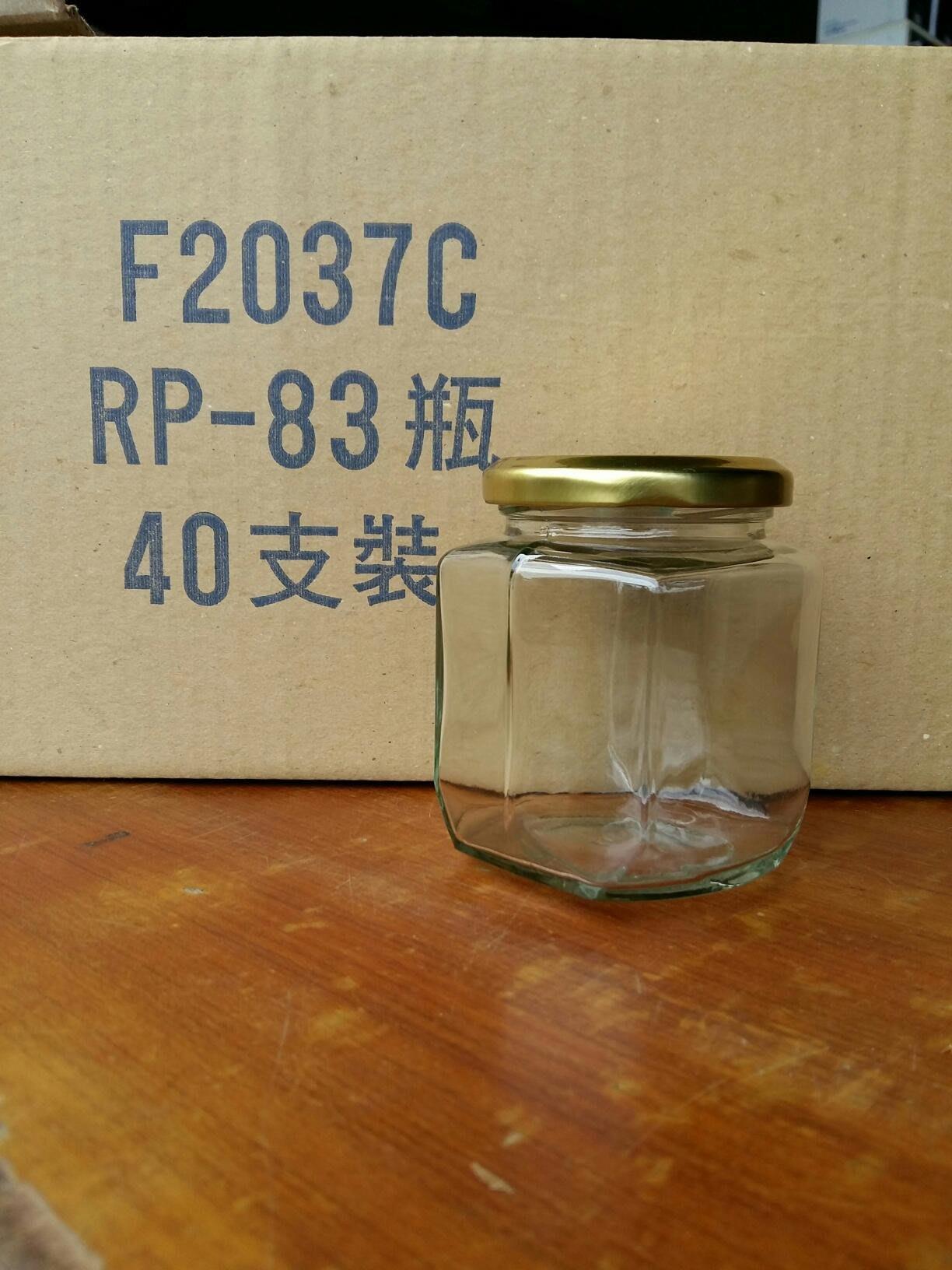288cc  rp83  f2037 扁六角 玻璃瓶 40入