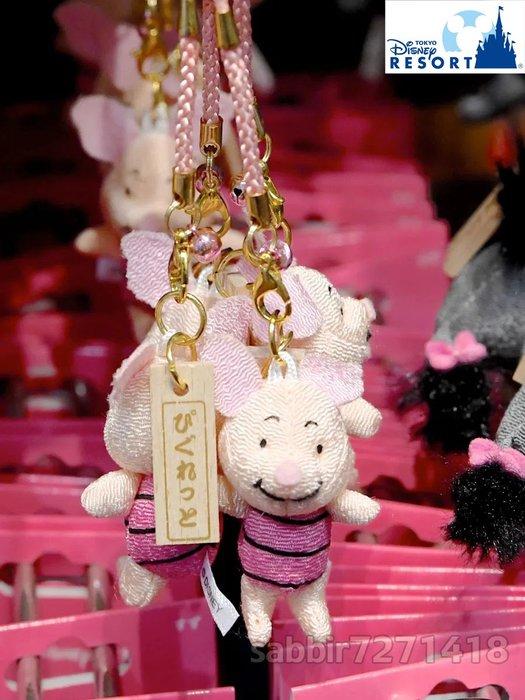 JP購✿樂園限定祈福根付吊飾 和風 小豬 日本東京迪士尼樂園 鈴鐺 吊飾 娃娃 玩偶 掛飾 401350097540