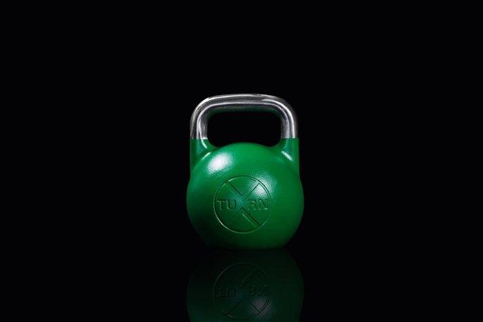 【神拳阿凱】TURN 一體成型 競技壺鈴 24kg 綠色