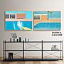 C - R - A - Z - Y - T - O - W - N David Hockney大衛霍克尼現代主義泳池掛畫簡約藝術空間版畫走廊裝飾畫小眾藝術掛畫