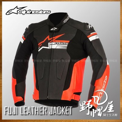 三重《野帽屋》義大利 ALPINESTARS A星 FUJI LEATHER JACKET 皮衣 可連接皮褲。黑紅