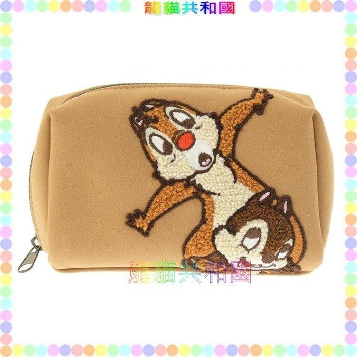 ※龍貓共和國※日本迪士尼商店Disney《奇奇蒂蒂Pixie Magic皮質針織刺繡 化妝包 收納包》生日情人節禮物