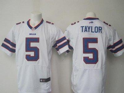 漫無止境wkky NFL橄欖球球衣 Buffalo Bills 布法羅比爾 5# TAYLOR 精英版 刺繡