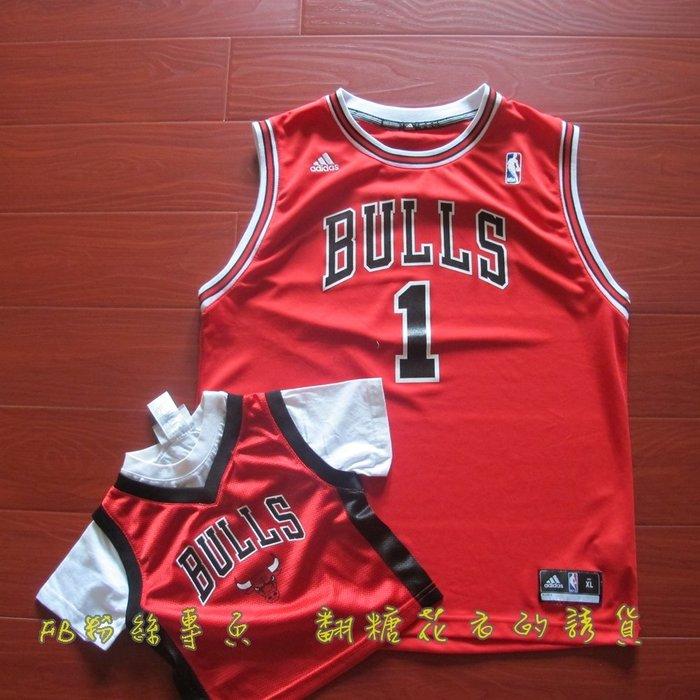 NBA官網  adidas 公牛隊小童短袖球衣  ROSE 羅斯  出清 2T