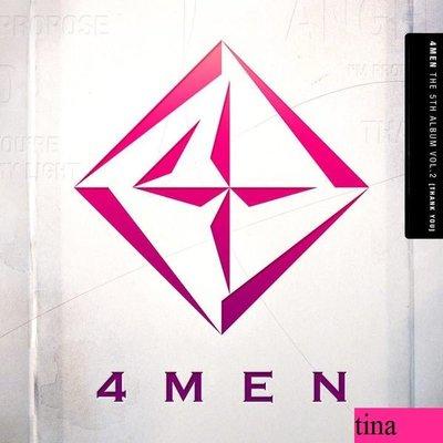 4Men The 5th Album Vol. 2 - Thank You 韓國原版第五張專輯全新未拆Propose Song.Lim Sei Jun
