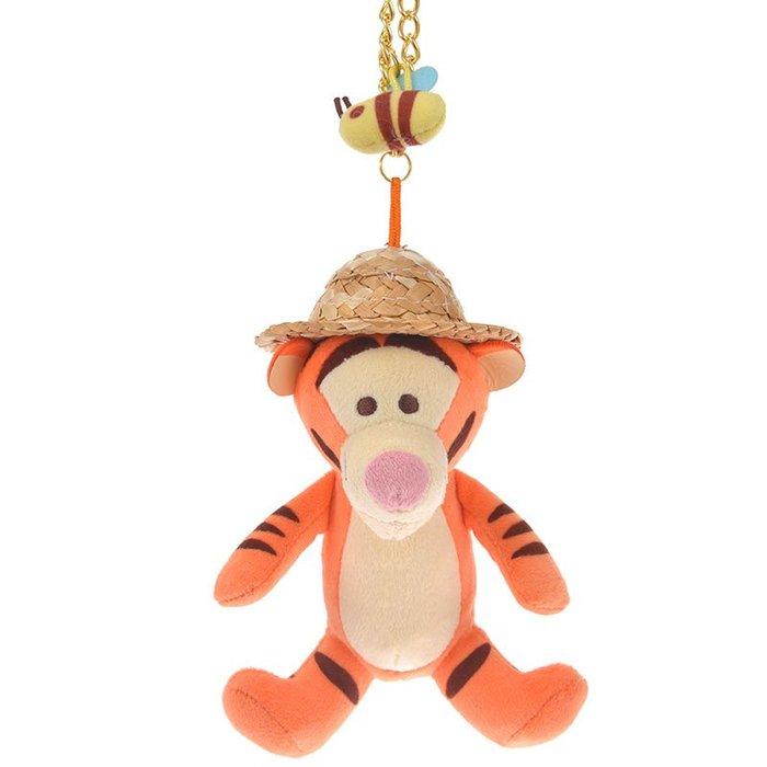 《FOS》2019新款 日本 迪士尼 草帽 跳跳虎 吊飾 玩偶 維尼 Disney 可愛 療癒 玩具 收藏 限量 熱銷