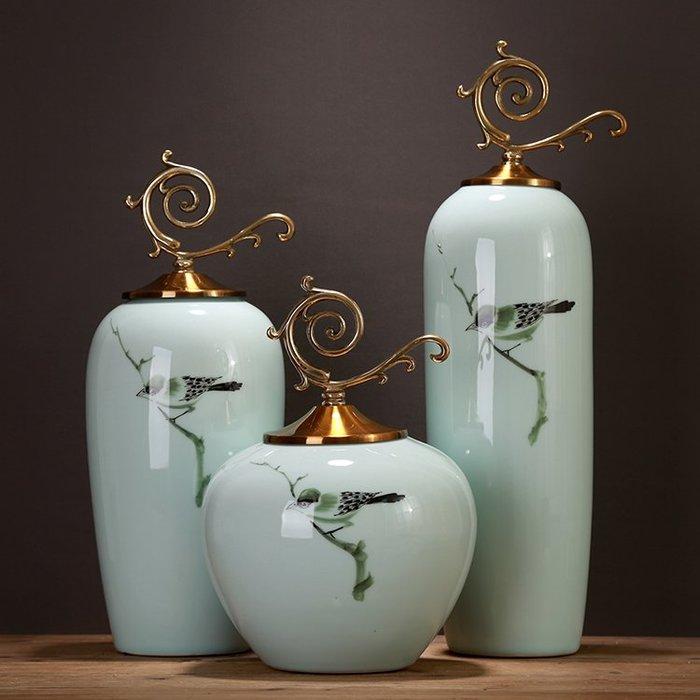 〖洋碼頭〗明清古典彩繪小鳥陶瓷儲物罐裝飾擺設家居擺件客廳玄關電視櫃飾品 ysh210