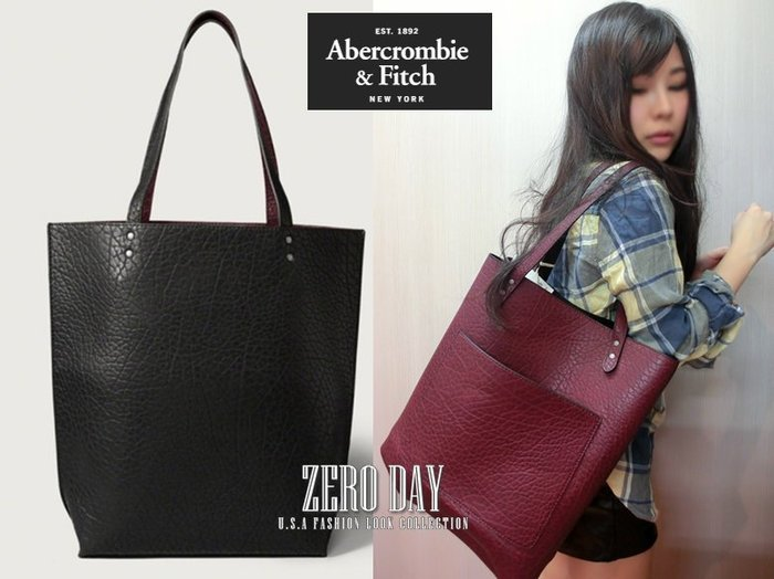 【零時差美國時尚網】A&F Abercrombie&Fitch Reversible Faux Leather皮革雙面包