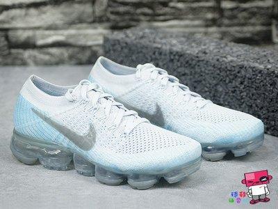 球鞋補習班 4折優惠 W NIKE AIR VAPORMAX FLYKNIT  氣墊 冰藍 3M 849557-014