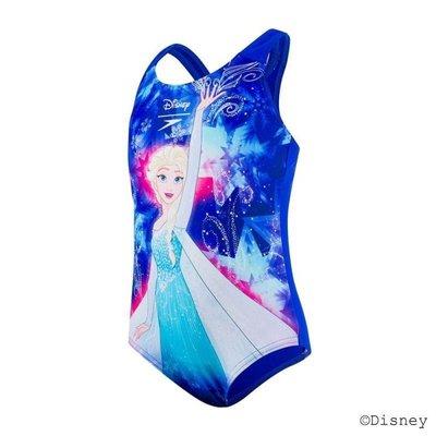 Speedo 女童 休閒連身泳裝 冰雪奇緣 兒童泳裝 SD807970C784 size:2y 3y 4y 5y