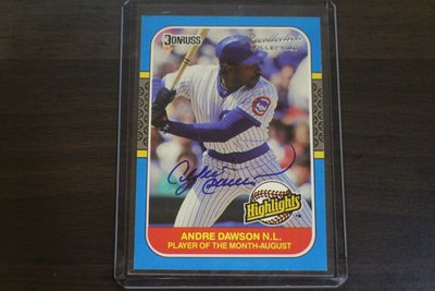 名人堂~1987 Donruss Recollection Auto Andre Dawson 限量10張簽名~小熊球星
