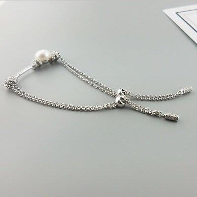 珍珠 手 鍊 925純銀手環-8.5mm優雅氣質情人節生日禮物女飾品73qn28[獨家進口][巴黎精品]