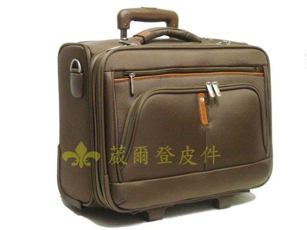 《補貨中缺貨葳爾登》可側背17吋EMINENT單人旅行箱,電腦包行李箱/可背拉桿登機箱/電腦公事包17吋324咖