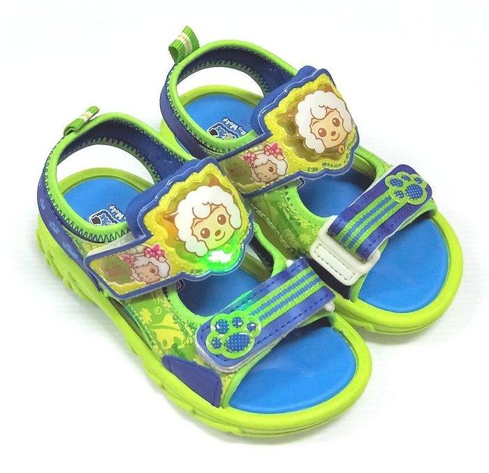 【菲瑪】喜羊羊與灰太狼 電燈涼鞋 藍綠XYKS45106 出清