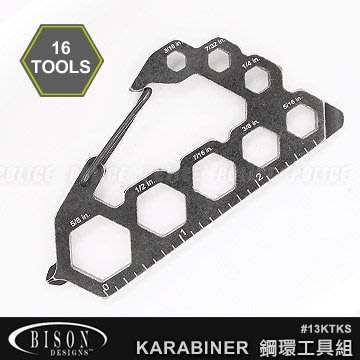 【angel 精品館 】BISON Kool Tool Karabiner 鋼環工具組 13KTKS