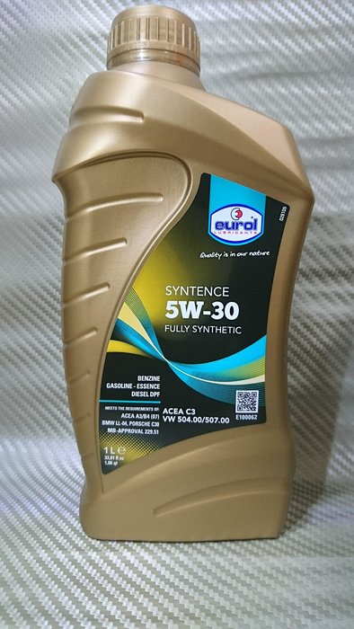 (C+西加小站) Eurol 汽柴油 Syntence  5W30  229.51  LL04  504/507 C30