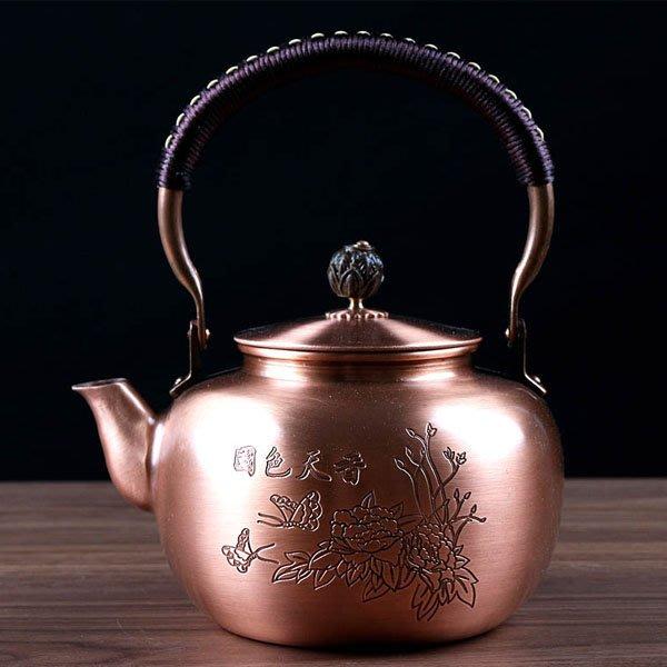 5Cgo【茗道】含稅會員有優惠 520259572309 手工純紫銅燒水壺茶海茶杯加厚泡茶器功夫茶具煮茶銅茶壺日式茶道銅