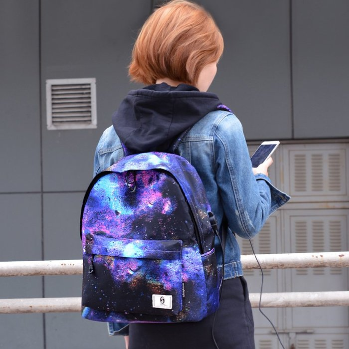 SX千貨鋪-新款帆布雙肩包男日韓學院風高中生旅行背包印花學生書包女#男士背包#書包#單肩包#書包