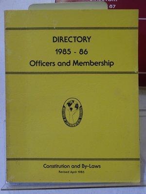 [花椰菜書房] I.E.S. 1986-87 Officer and membership directory