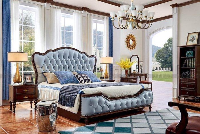[紅蘋果傢俱] 608 美式英倫風系列 雙人床 床架 數千坪展示