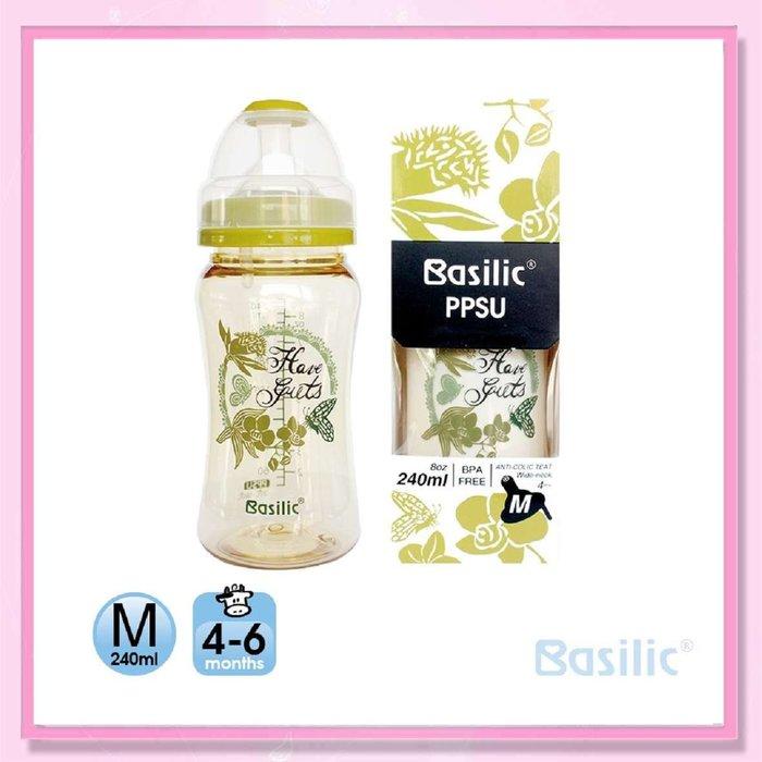 <益嬰房>貝喜力克 防脹氣PPSU寬口中奶瓶240ml (1010104402)