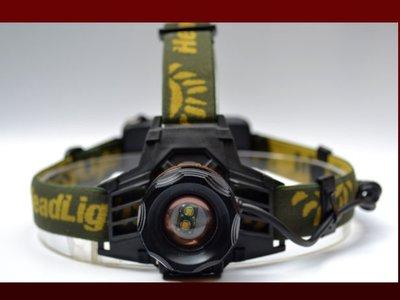 瘋 ~ 全新 白光 + 黃光 旋轉變焦 手電筒 使用18650電池 釣魚 非 L2 工作燈 登山 露營