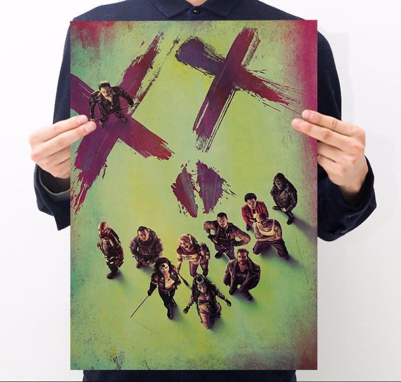 【貼貼屋】自殺突擊隊 DC 小丑 JOKER 超級英雄 復古海報 牛皮紙海報 店面裝飾 壁貼