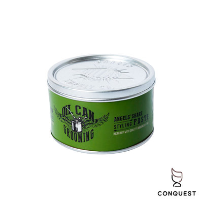 【 CONQUEST 】英國 Oil Can Styling Paste 綠罐無重力髮泥 霧面光澤 黑手髮泥 適合中短髮