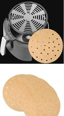 居家~【氣炸鍋烘培紙】  圓形 方型 100張 氣炸鍋 烤箱 通用 蒸籠烘培紙 氣炸鍋烤紙AP0949