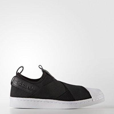 【西寧鹿】Adidas Originals Superstar Slip On BY2884 女 慢跑 黑 ADI020