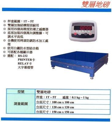 三重 電子秤 地磅  雙層地磅 1T-5T /台面100cm X 100cm/ 有店面 有保固