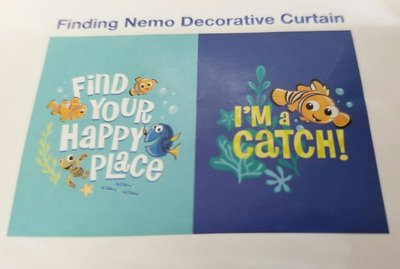 香港迪士尼樂園 會員限定 Finding Nemo Decorative Curtain 海底奇兵 掛簾/門簾 75x50cm 全新正版 HKDL