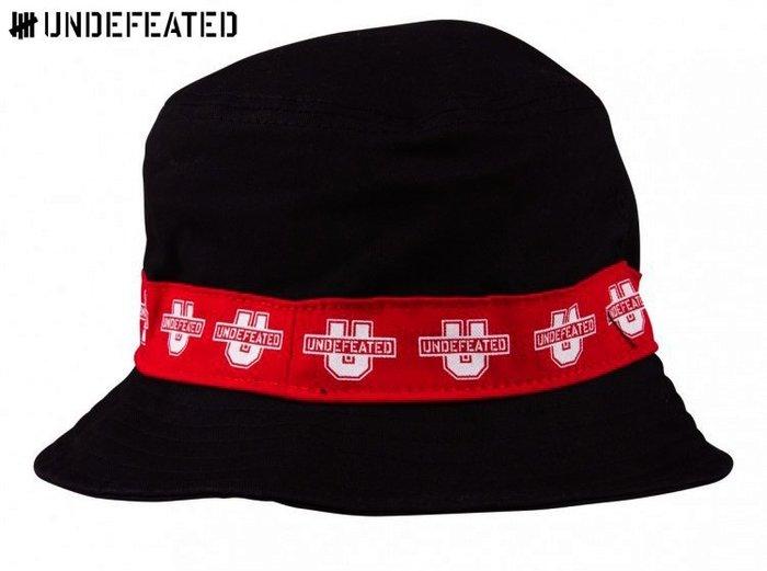 【超搶手】 全新正品 2015 最新 UNDEFEATED U TAPE BUCKET HAT 邊條字體 漁夫帽 黑色
